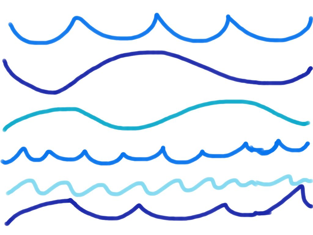 Line Drawing Waves : Pics for gt wave line drawing